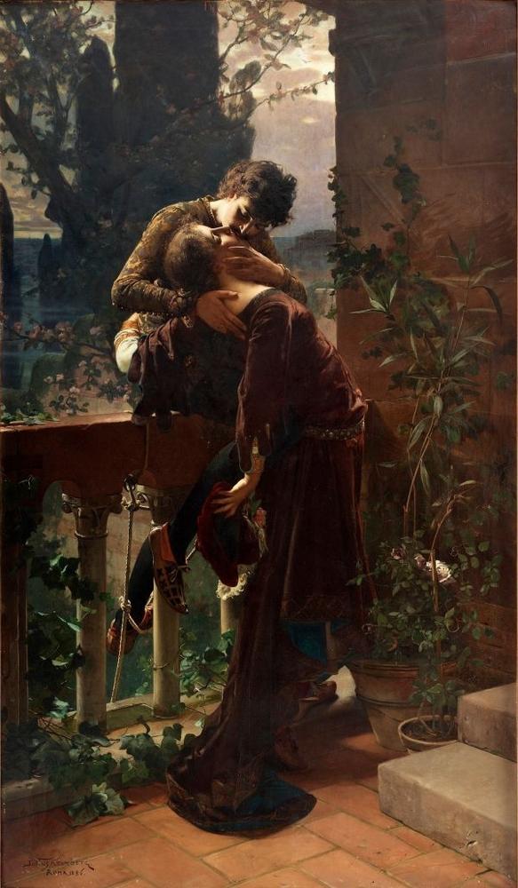 Julius Kronberg Romeo and Juliet on the balcony